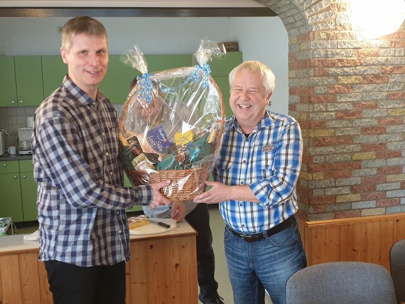 Jens - geehrt für engagierte Lobby- und Sponsorenarbeit