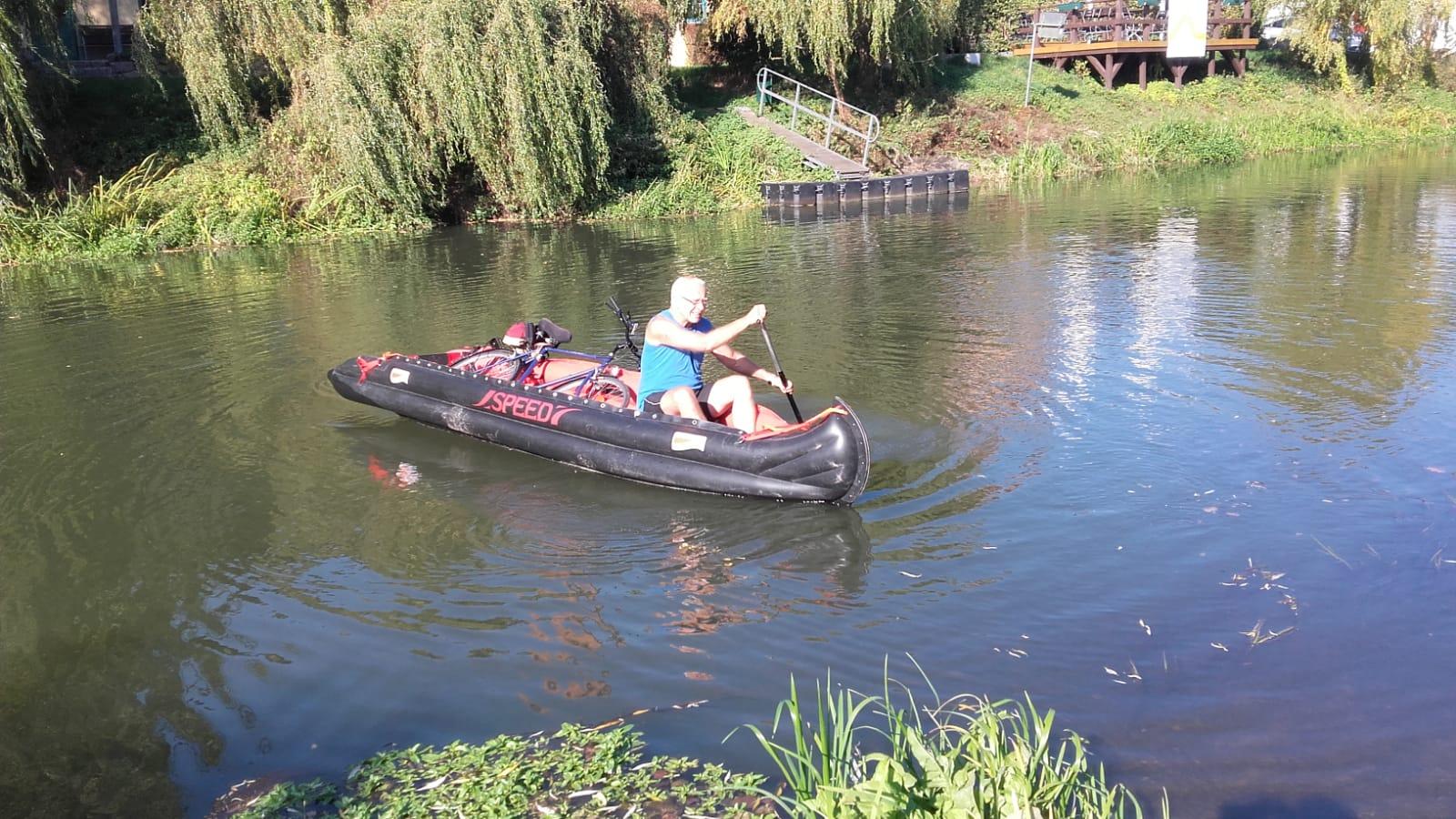 ... und während wir die Elbe abpaddeln, ist unser Reiner auf der Recknitz unterwegs ...