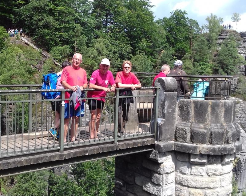 Auf der Basteibrücke