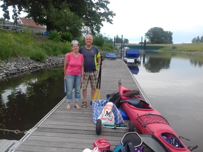 Uwe und Christa in Mühlberg