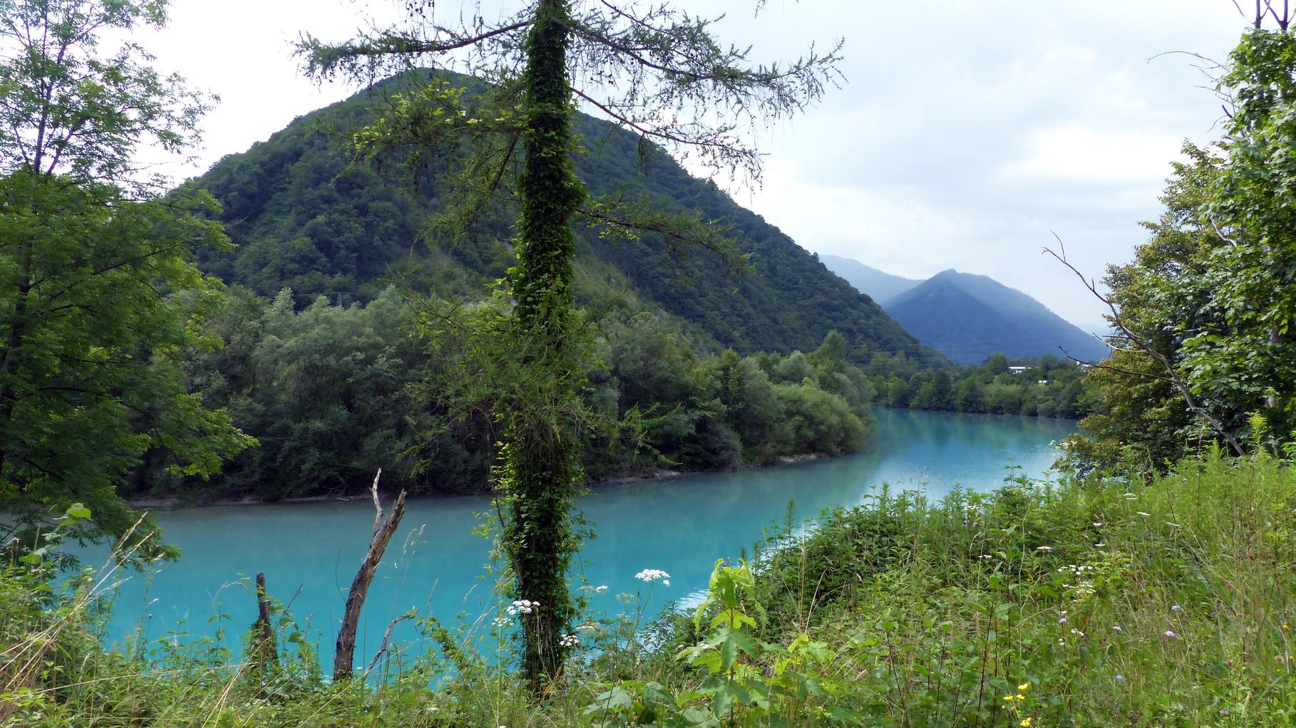 die smaragdfarbene Soca, ich kenne keinen anderen Fluß, welcher solch intensive Farbe trägt