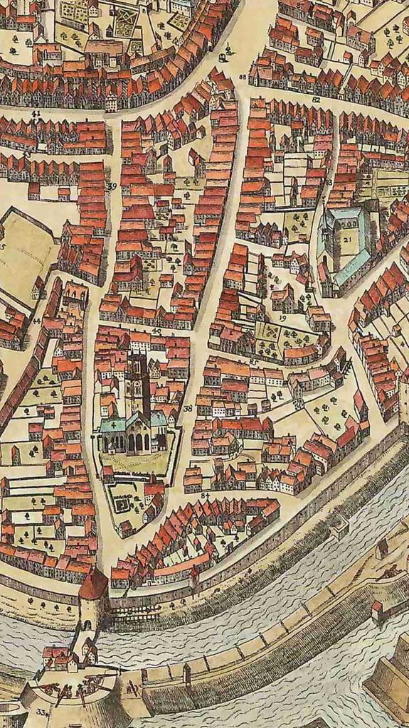 Ausschnitt aus dem Alerdinck Plan von 1636 - 6222.284.15