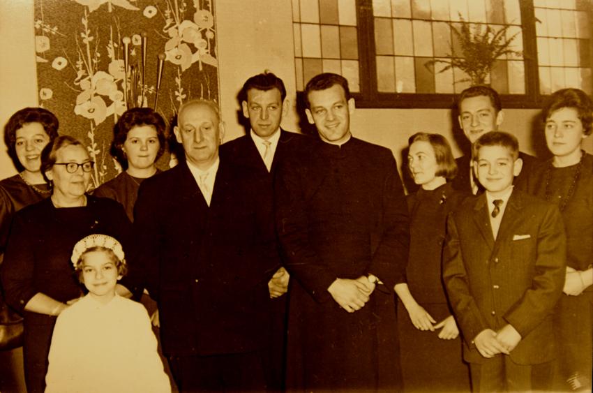 Familie Böcker - Walter mit Eltern und Geschwistern
