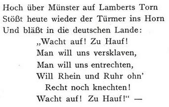 Aus Wagenfelds Gedicht
