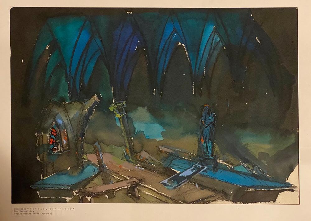 Hindemith - Mathis der Maler - Entwurf des Bühnenbildes 1962-1963