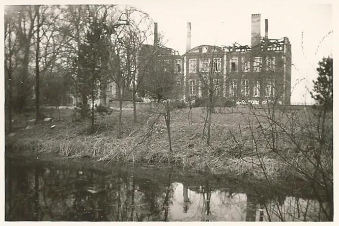 Das abgebrannte Schloss Wilkinghege