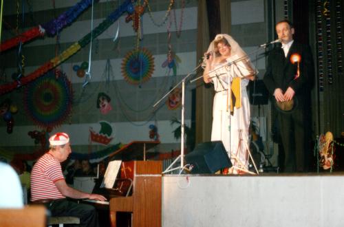 Hochzeitspaar Rolf & Klaus, am Flügel Herbert Zocher