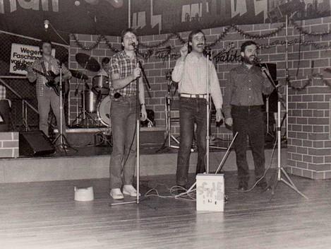 Trio 1987 mit Begleitung Panorama septett (im Bild Harald Müller)