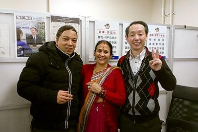 ビザ手続きをご依頼下さった新潟市西区のインド料理店ガネーシャさんのご夫妻