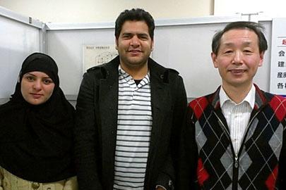 家族滞在ビザ申請が許可された新潟市在住の中東の夫婦さん