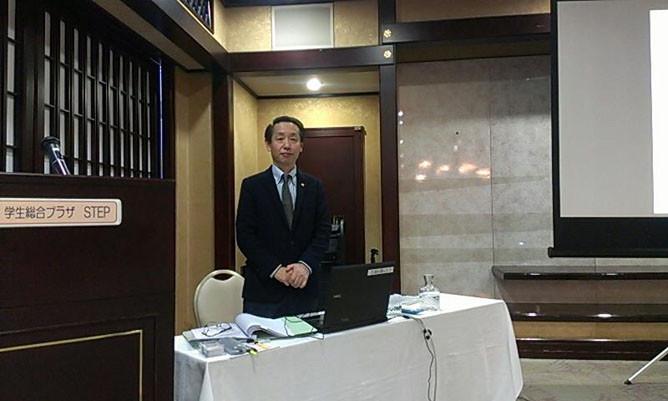 NSG専門学校グループ(新潟市)で留学生終了ビザに関して講演する国際行政書士 南 直人