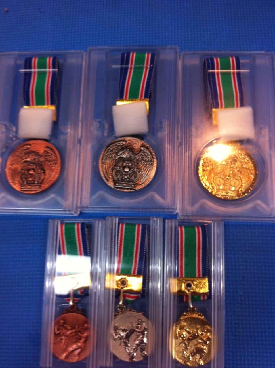 幼少年部は出席回数で全員メダルがもらえます!!