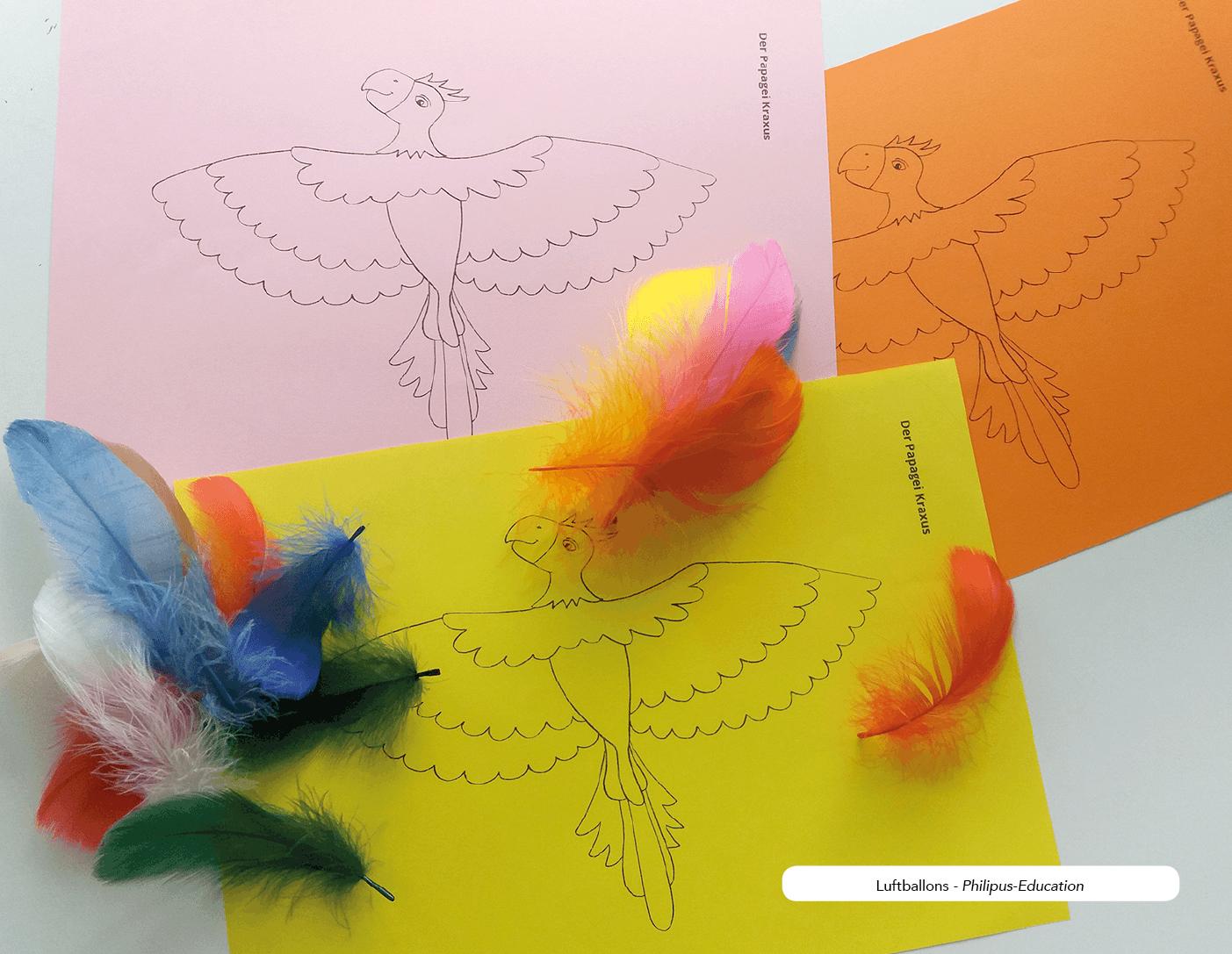 Für mehr Farbe: das Bild auf buntes Papier drucken