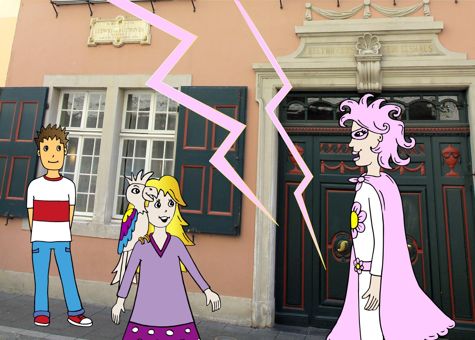 In Bonn (vor dem rosa Haus von Beethoven)