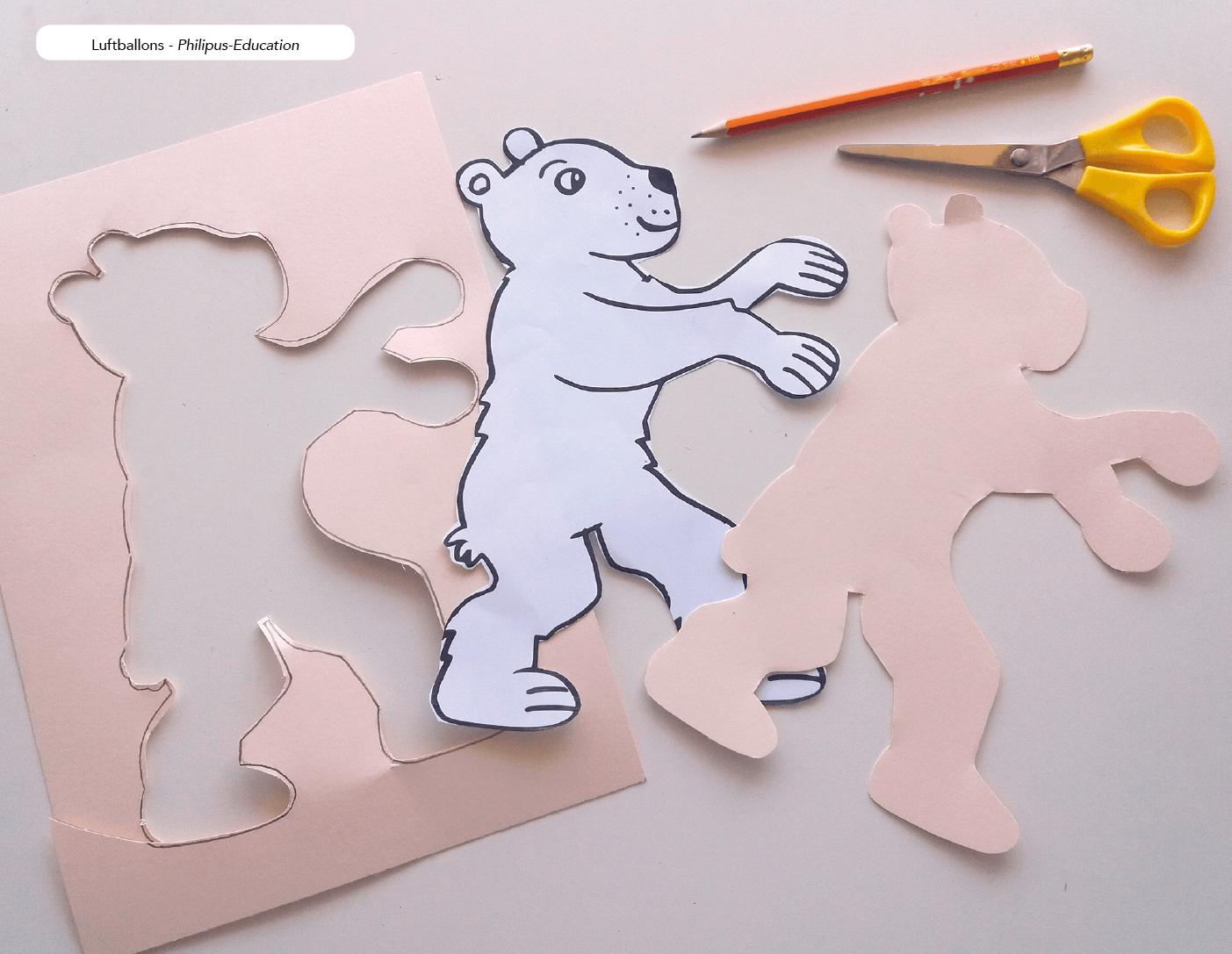 Den Bären ausschneiden