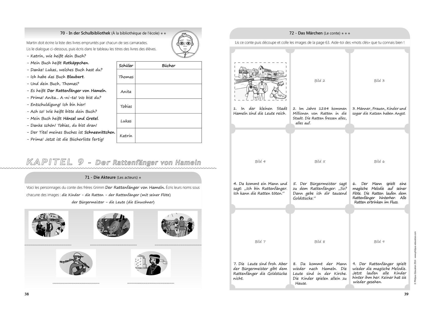 Extrait du cahier d'entraînement KWS A1.2 (123 Übungen und Spiele)