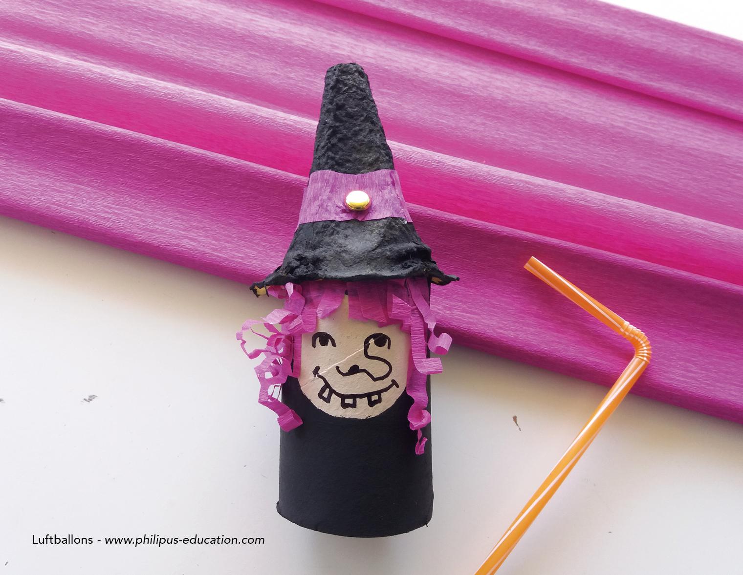 Den Hut der Hexe festkleben