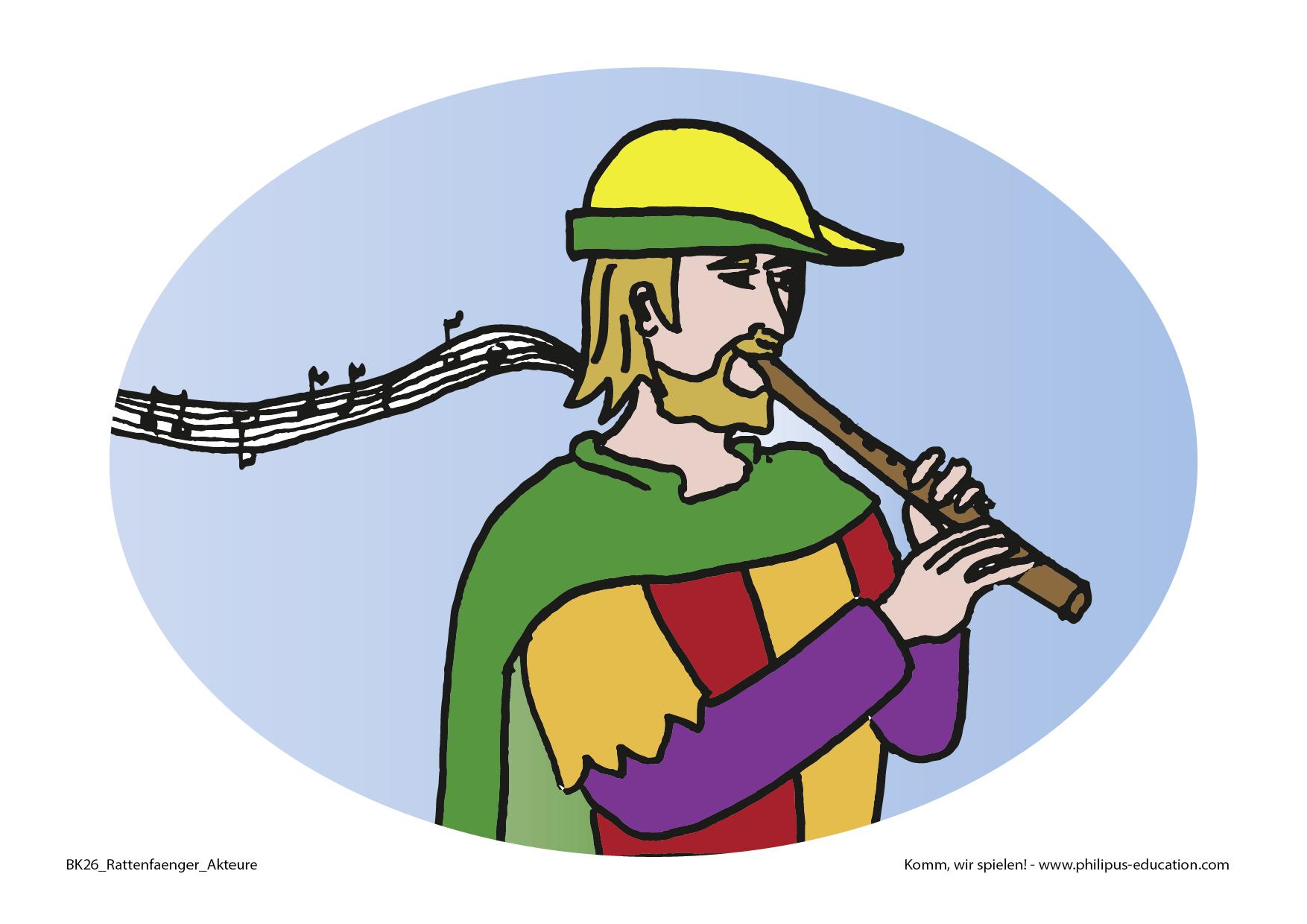 der Rattenfänger mit seiner Flöte