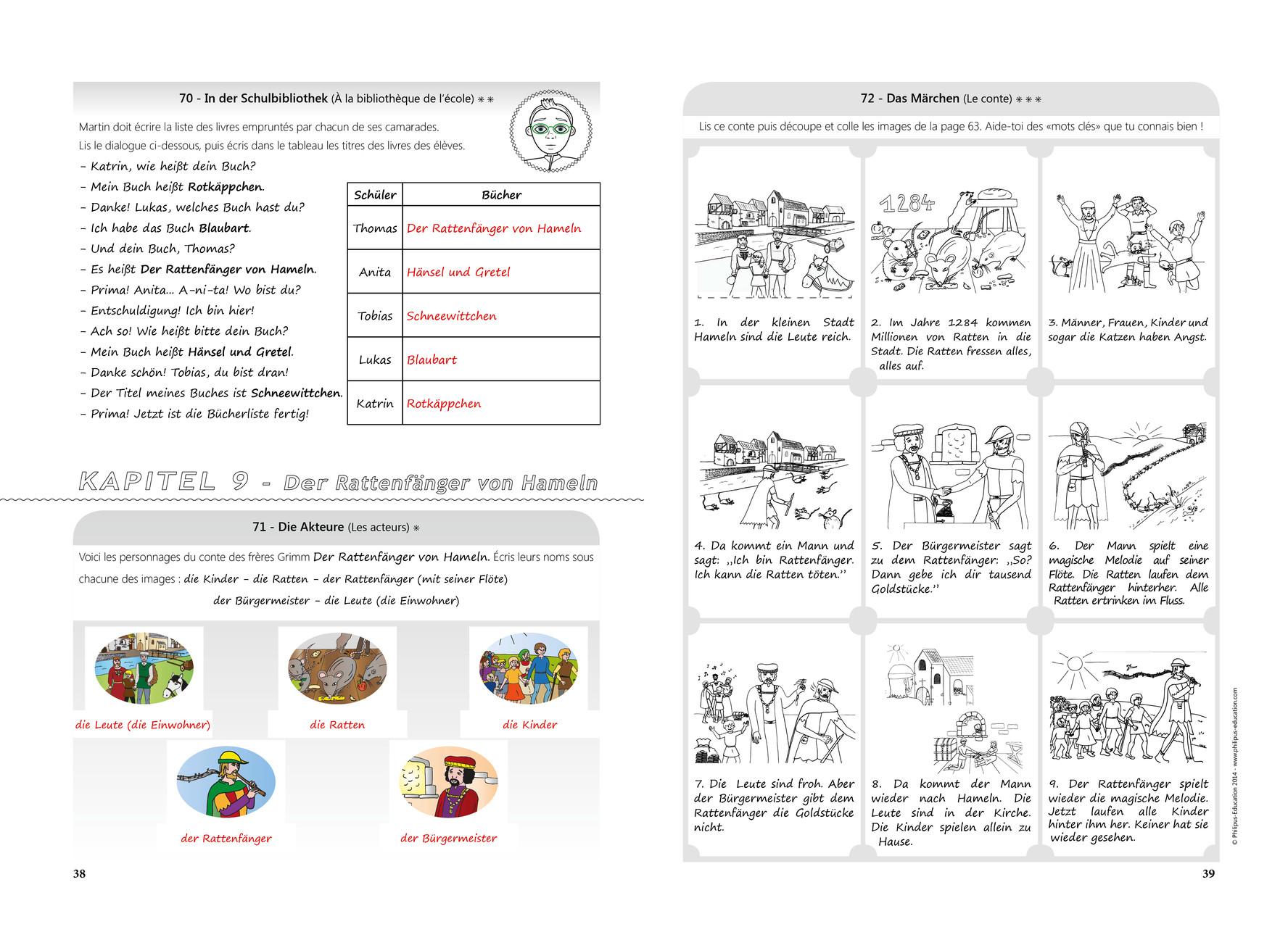 Extrait du CD-Rom des réponses KWS A1.2 (123 Übungen und Spiele)