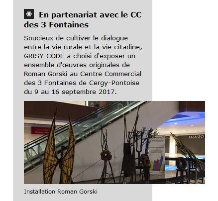 2017 - Centre commercial des 3 Fontaines, Cergy - Grisy code - Roman Gorski