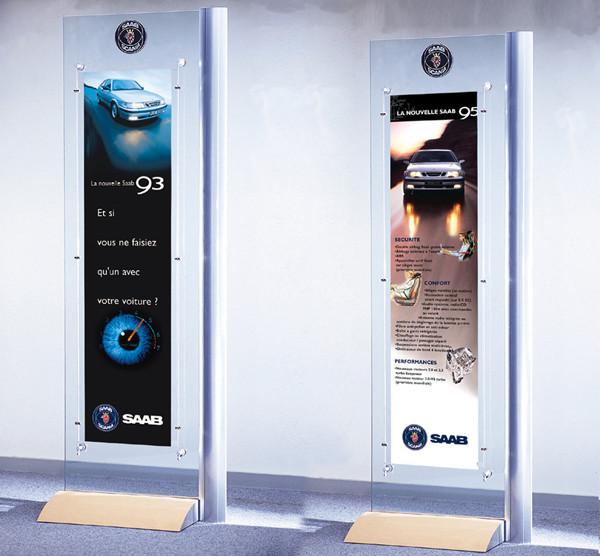 Création d'un visuel de lancement pour Saab
