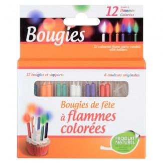Design graphique - Bougies flamme colorée