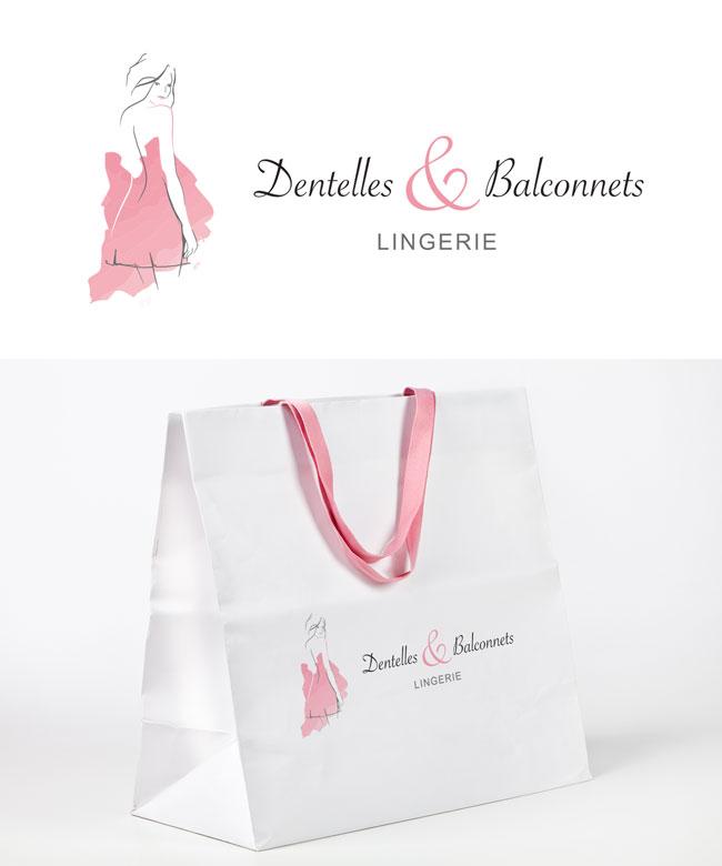 """Logo marque de lingerie """"Dentelles et Balconnets"""""""