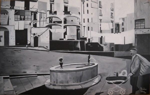 Da Salernum a Salerno - acrilico su tela - 80 x 50 cm - 2015 - disponibile