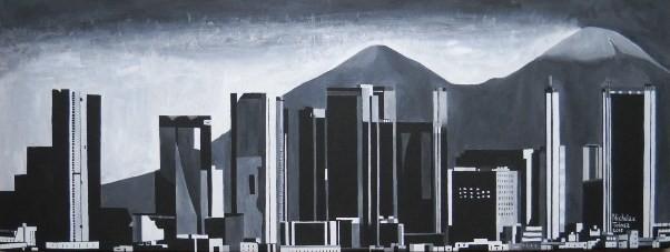 Grattacieli di Napoli - acrilico su tela - 80 x 30 cm - 2015 - disponibile