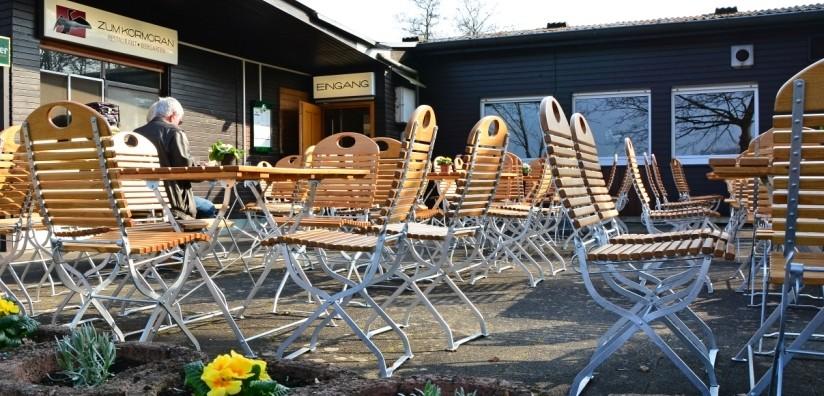 Biergarten vom Restaurant Zum Kormoran