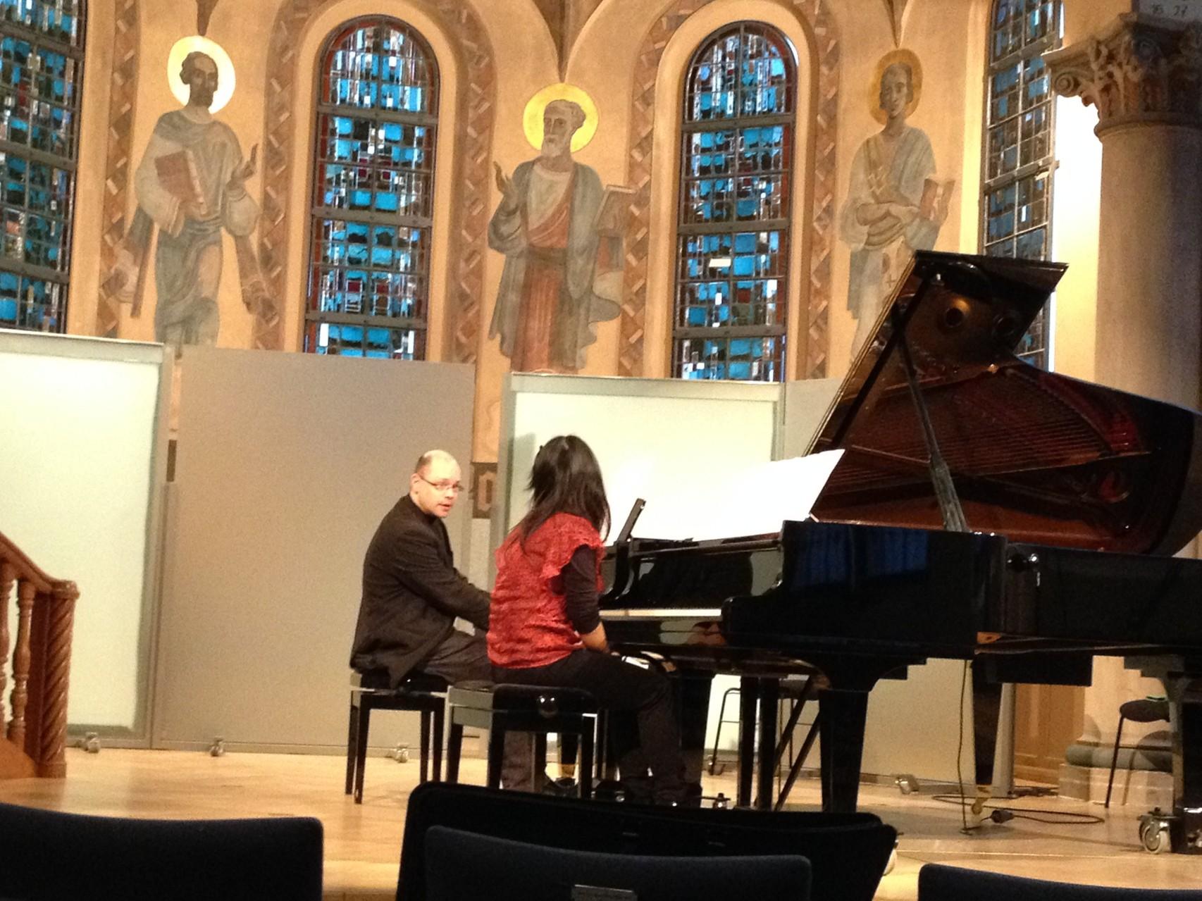 Meisterkurs Klavier, Hochschule für Musik Nürnberg, 2014 (Foto: privat)
