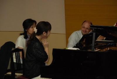 ピティナにて 福田靖子賞基金 特別レッスン 2012 (Foto:privat)