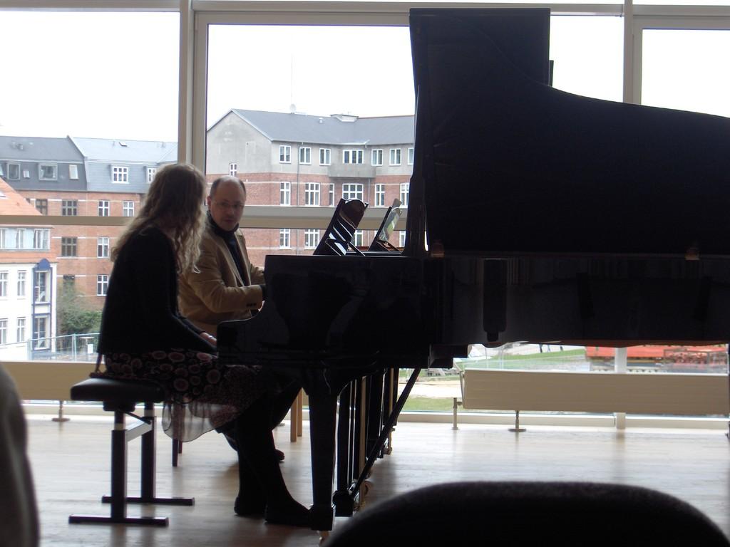デンマーク オーフス音楽大学にて ピアノマスタークラス 2010 (Foto:privat)