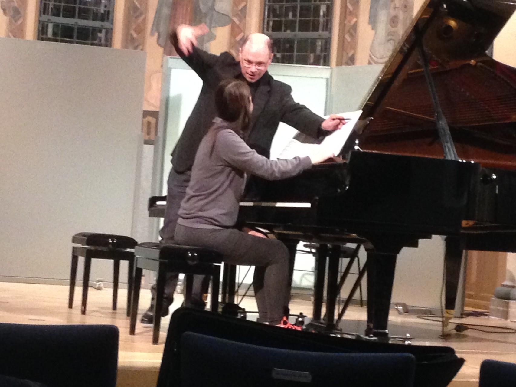 ドイツ ニュルンベルグ音楽大学にて ピアノマスタークラス 2014(Foto:privat)