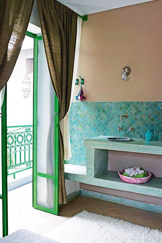 Zelliges aus Marokko, Farbe: Turquoise, 5x5 cm