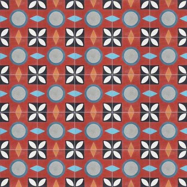 Zementfliesen von CAROCIM, Dryade PAN110, 20x20 cm