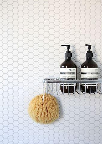 Glasmosaik, weiß und matt / Hexagon 2,5cm
