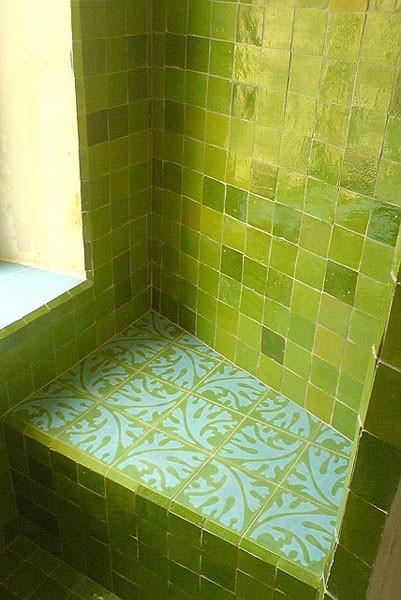Zelliges, vert clair 10x10 cm