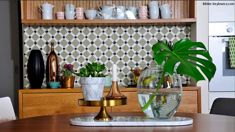 SOUTHERN TILES, Zementfliesen Dekor: Latti, olive  20x20 cm