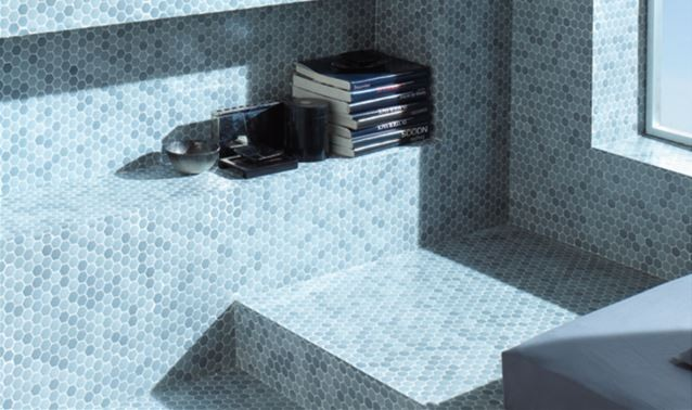 HISBALIT, Hexagon-Mosaik 2,5x2,5 cm