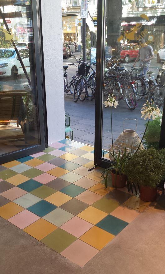 Zementfliesen, 20x20 cm / Mrs. Goodwill, Köln