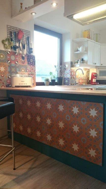Zementfliesen von CAROCIM, Mix aus Dekoren von Petit Pan, 20x20 cm