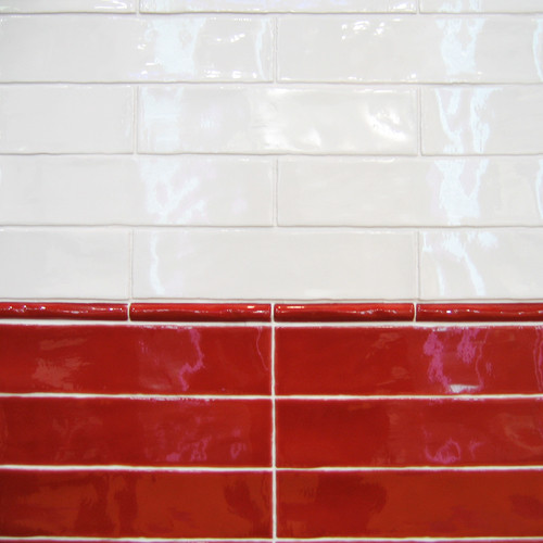 Alaska, 7,5x30 cm / Farbe: blanco, rojo