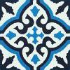 SOUTHERN TILES Zementfliese, Provencal schwarz-blau, 20x20 cm