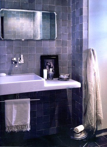 Badezimmer mit Zelliges