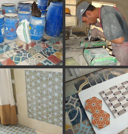 SOUTHERN TILES_Herstellung von Zementfliesen in Marokko, 2013