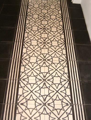 CAROCIM, Zementfliesen, Dekor: Etoile 20x20 cm / Bordüre: Dhar 10x20 cm