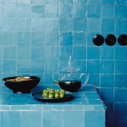 Marokkanische Zelliges, bleu 10x10 cm
