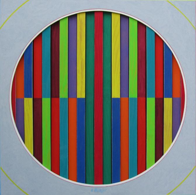 """Farblättchen"" - Acryl 2014"
