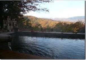 白根山が見える絶景露天風呂